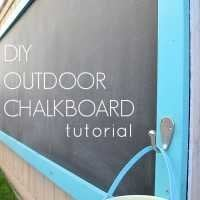 diy outdoor chalkboard tutorial