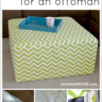 DIY removable slip covered ottoman