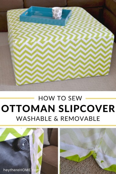 How to sew Ottoman Slipcover