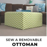 Removable Ottoman slipcover tutorial