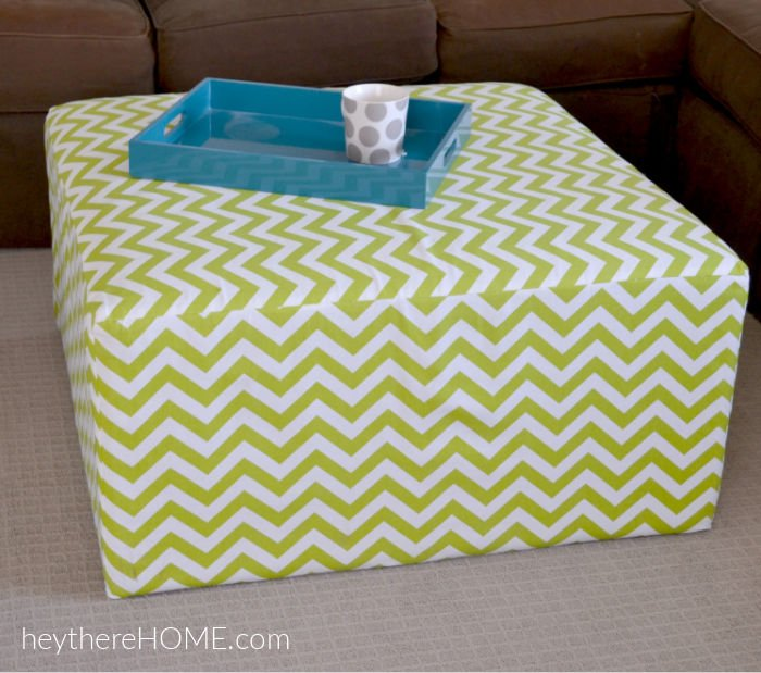 how to sew a slip cover for an ottoman