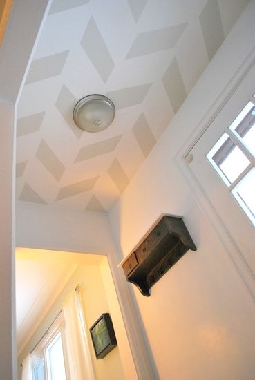 chevron painted ceiling