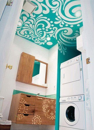 demask stenciled ceiling