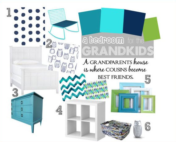 navy and turquoise kids bedroom