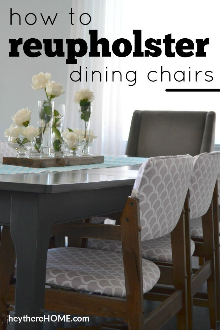 how to reupholster dining chairs