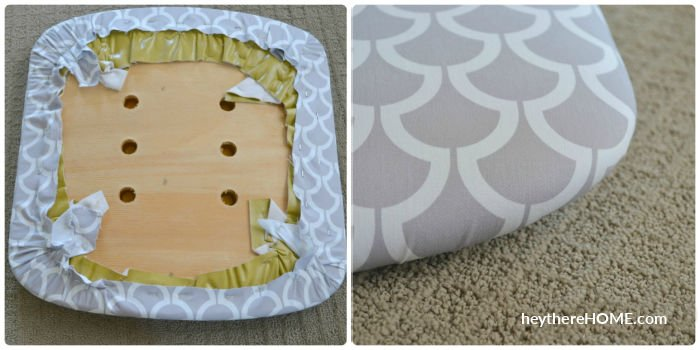 how to reupholster a chair seat no sew