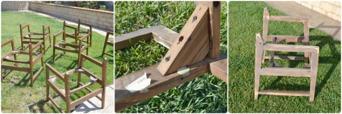 refinishing wooden dining chair frames