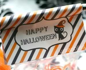 Halloween party printable favor bag labels