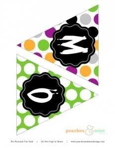 Halloween party printable banner