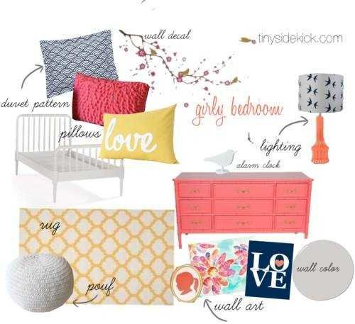 coral-navy-yellow-bedroom