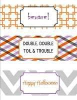 halloween party printables wrappers - Halloween Traceables