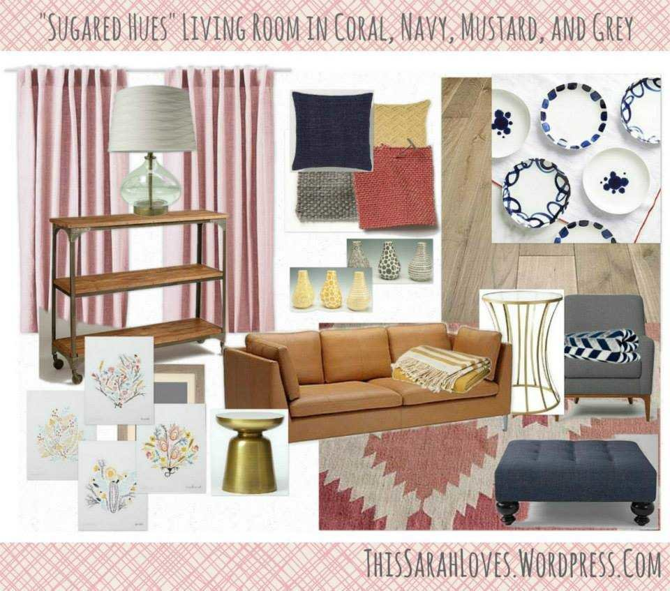 Coral Navy And Mustard Design Collaboration