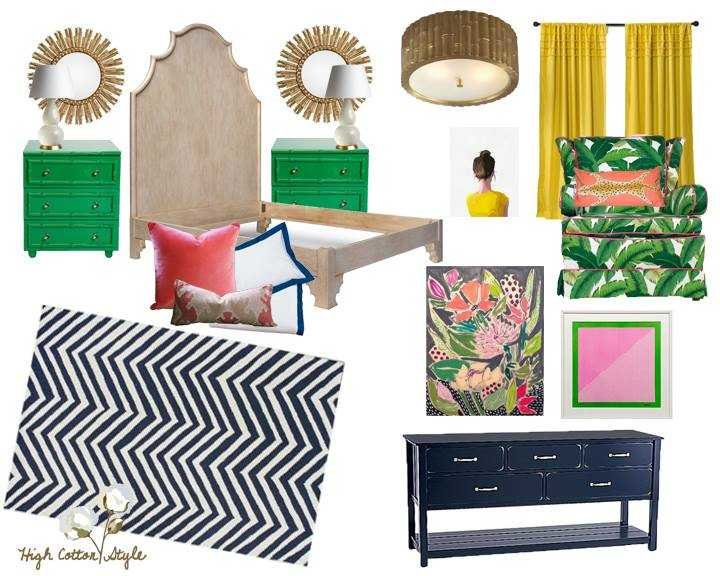 Coral, Navy, And Mustard {Design Collaboration}