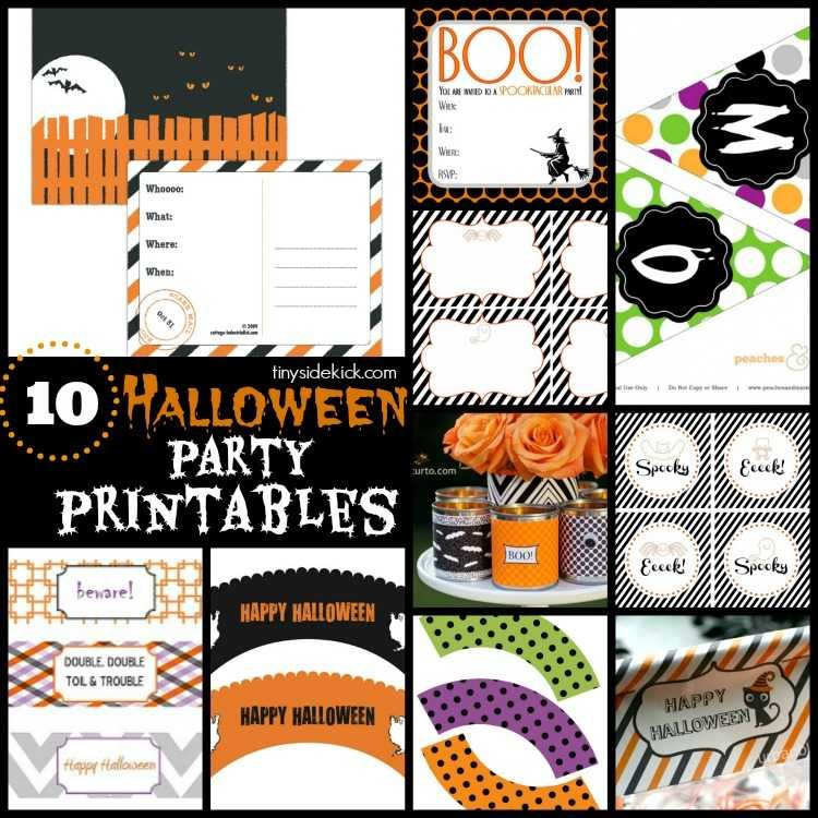 Make your party perfect with these free halloween party printables. Invitations, cupcake tippers, banners, and more! #Halloweenparty #freeprintables