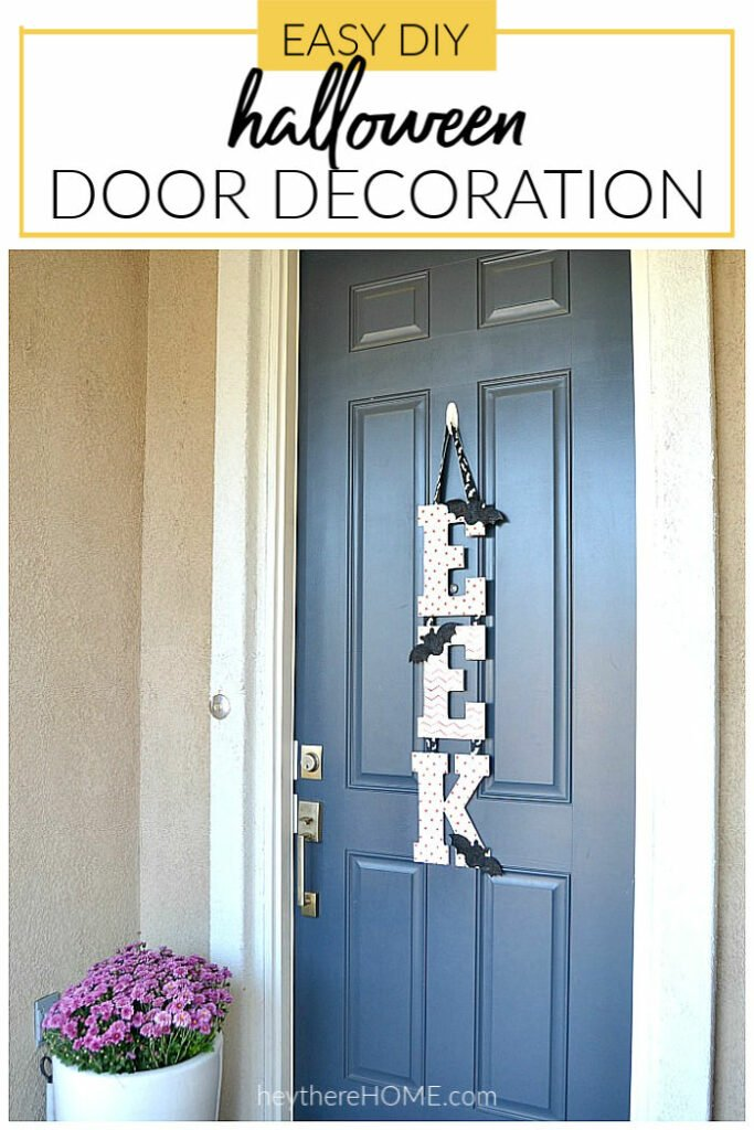 easy diy halloween door decoration