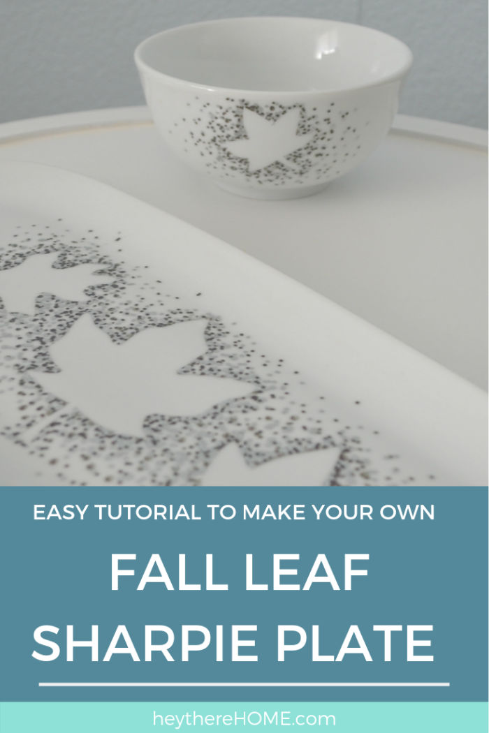 Sharpie Plate How To Use Sharpie On Ceramic Fall Decor