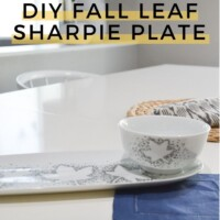easy fall craft sharpie plate