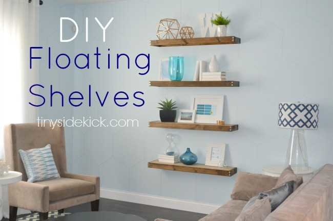 Floating Bookshelves diy rustic modern floating shelves: part one