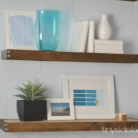 How to install DIY rustic modern floating shelves