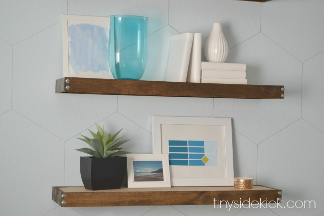 DIY rustic modern floating shelves (18)