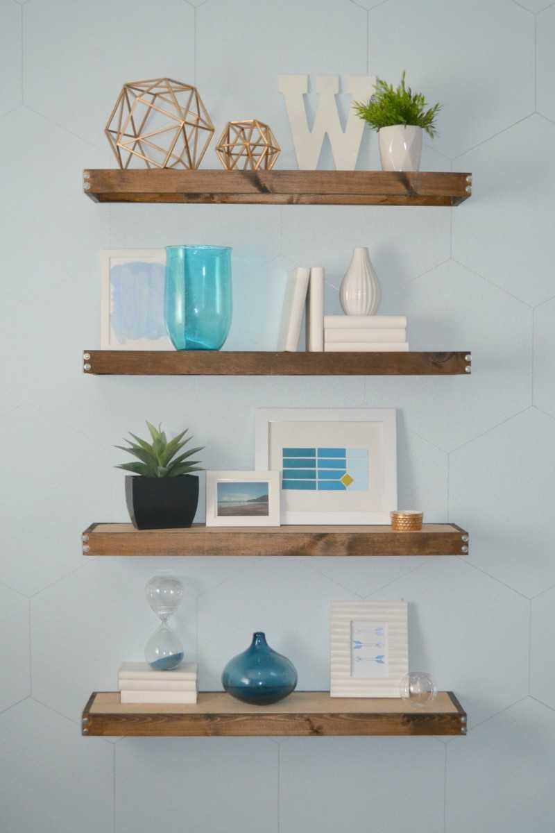 diy rustic modern floating shelves part one rh heytherehome com  how to build sleek free-floating wall shelves