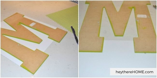 how to decorate wooden letters with paper