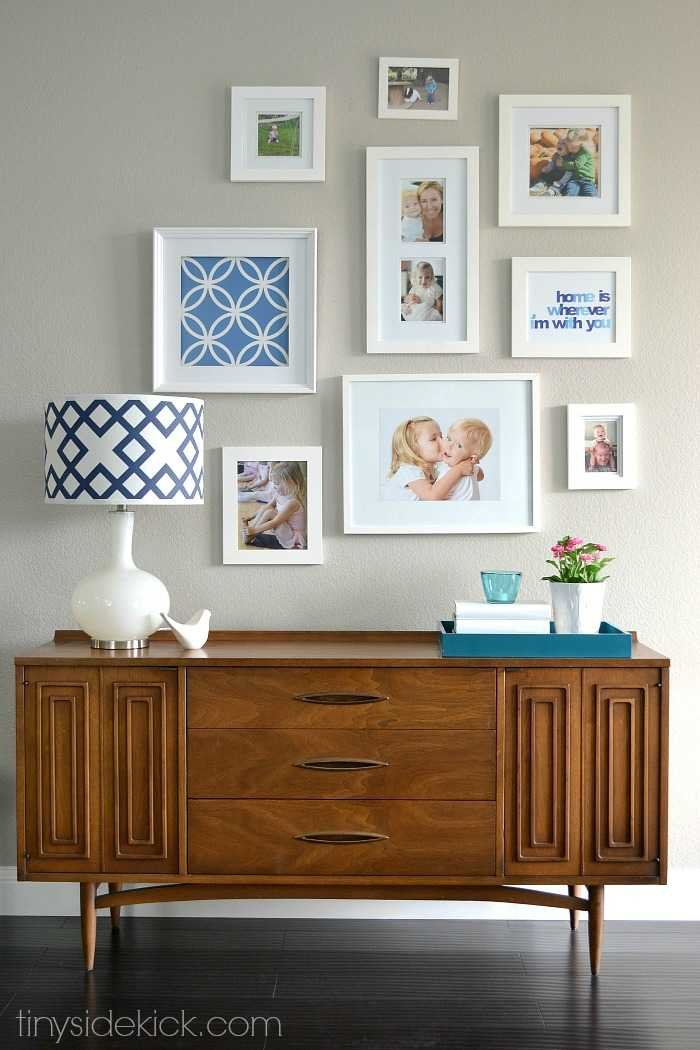 So you want to try a gallery wall for Hanging frames on walls