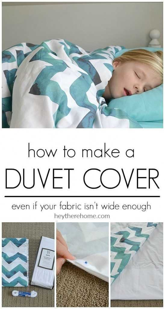 how to make a duvet cover - Hey There, Home