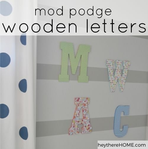 mod podge paper to wood