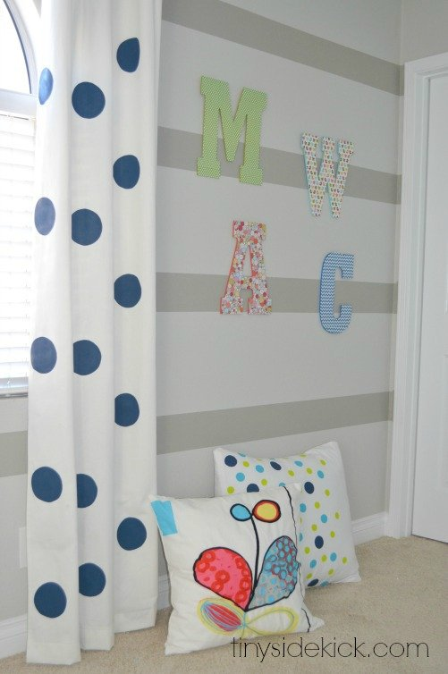 initial wall art for kids room