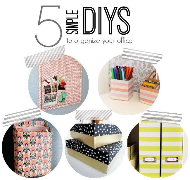 simple DIY projects to organize your office