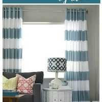 how to make grommet top curtains using shower curtains