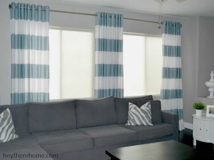 Curtains Ideas curtain grommets diy : DIY Grommet Top Curtains: A Crate & Barrel Knock Off