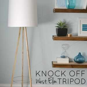 knock off west elm tripod floor lamp