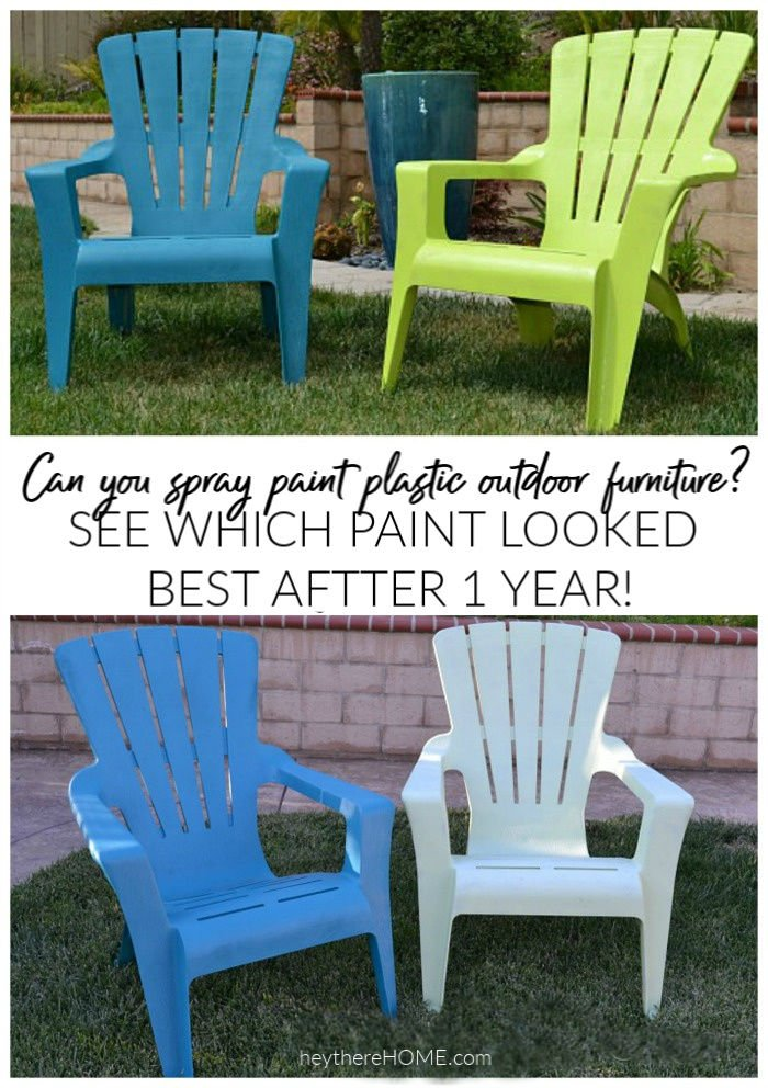 1 Year Later: Spray Painted Plastic Outdoor Chairs