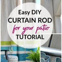 DIY curtain rod tutorial