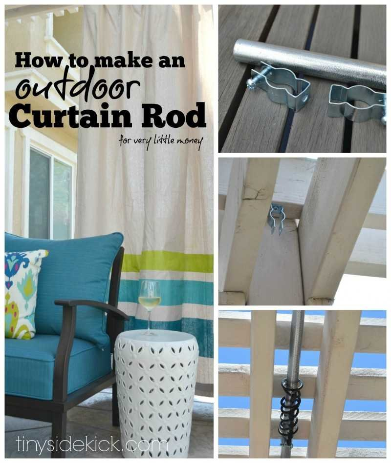 How To Make Outdoor Curtains For Patio DIY Patio Curtains