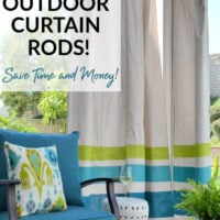 easy DIY outdoor curtain rod