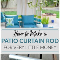how to make a patio curtain rod