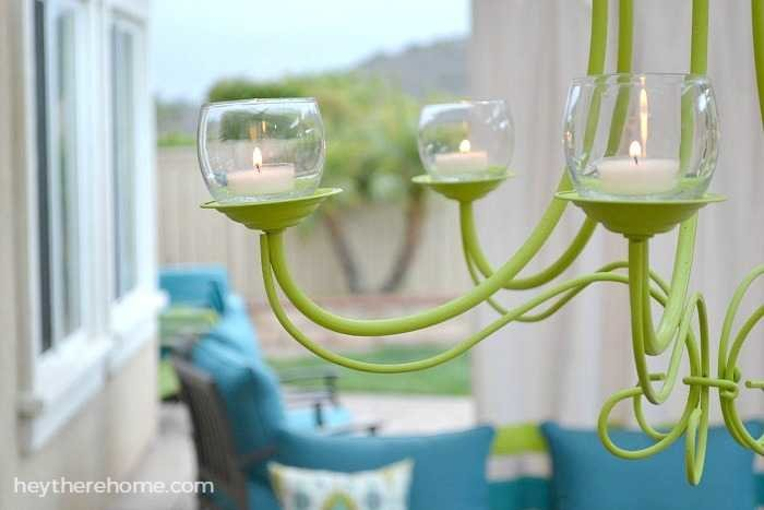 Diy Outdoor Chandelier How To Make A Candle Chandelier