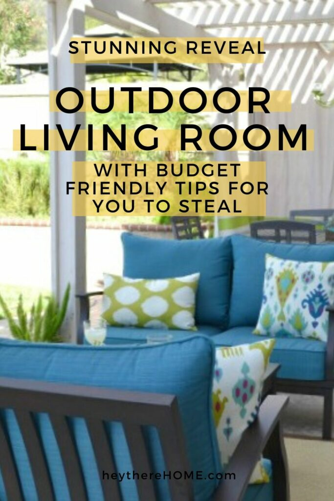 Outdoor Living Room Reveal