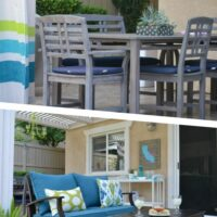 Patio makeover reveal on a budget