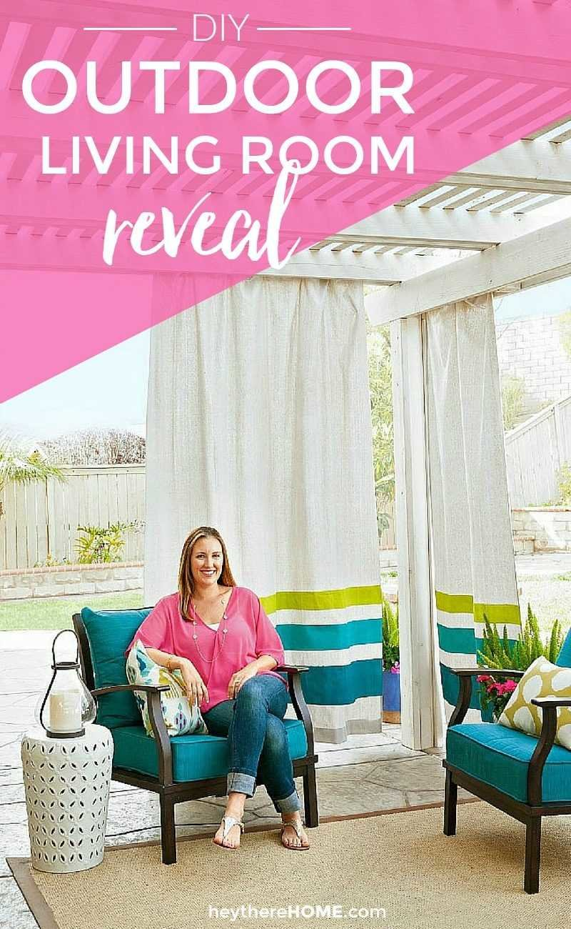 This DIY outdoor living room is amazing