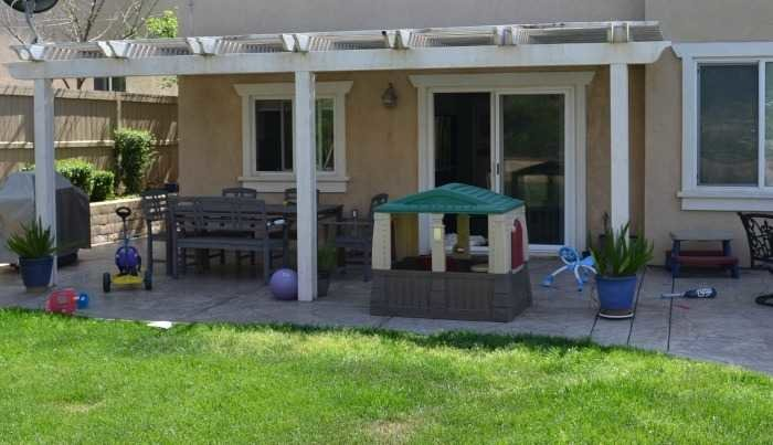 outdoor patio before