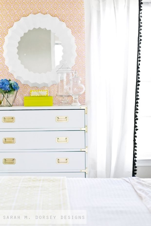 DIY thrifted and painted campaign dresser