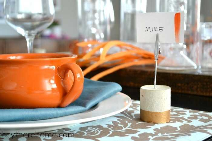 easy place card holders for my fall table