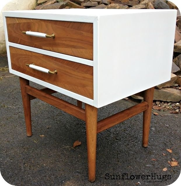 mid century side table makeover