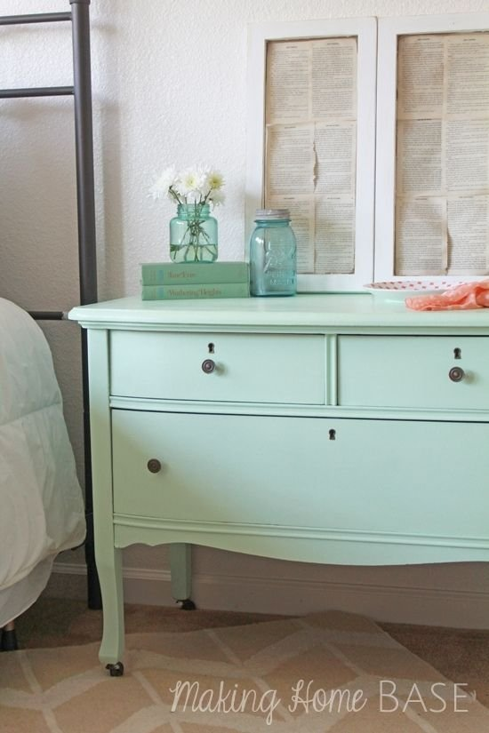 mint painted night stands