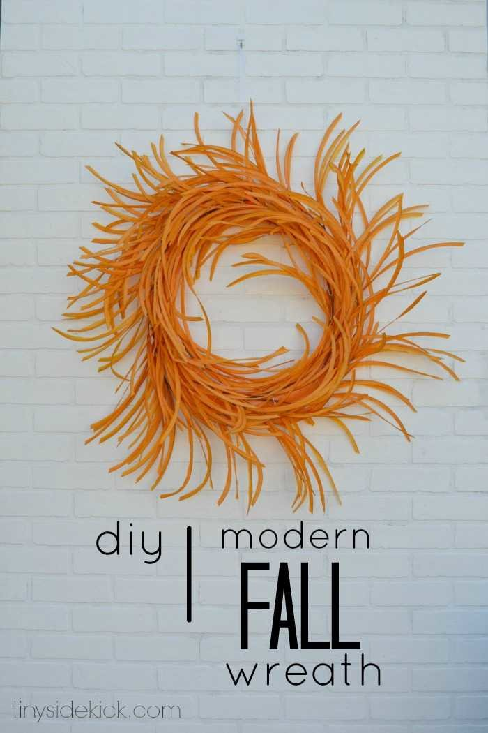modern fall wreath