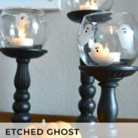 Ghost etched glass votives